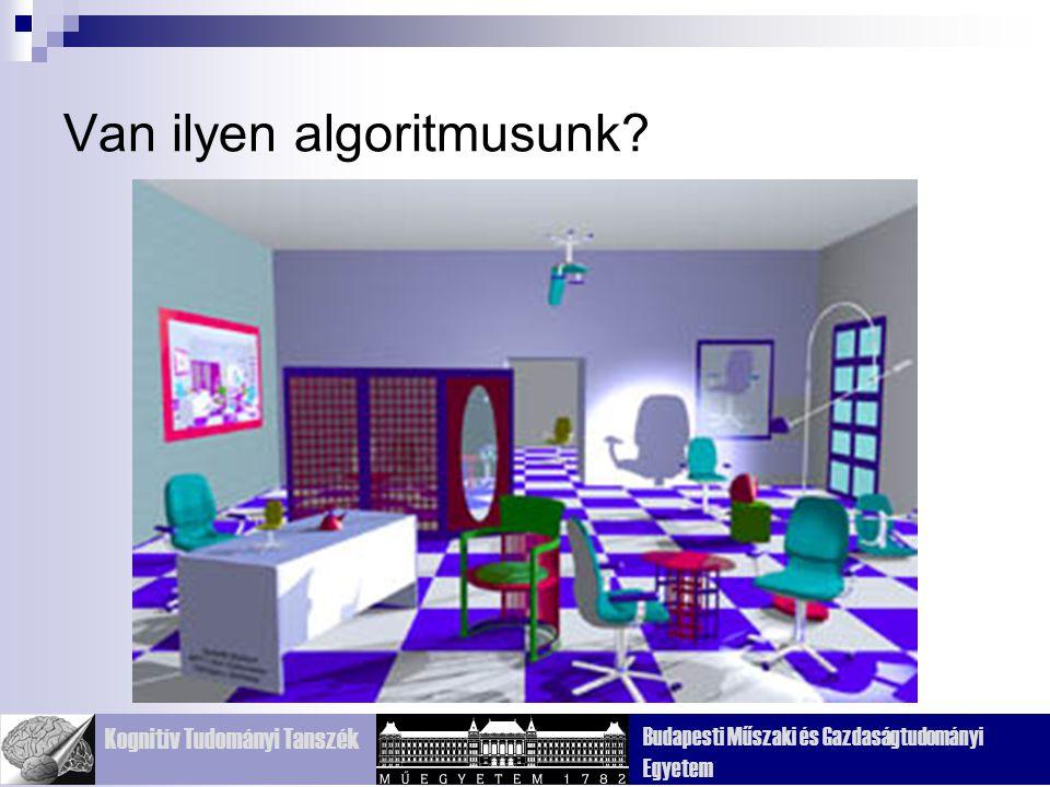 Kognitív Tudományi Tanszék Budapesti Műszaki és Gazdaságtudományi Egyetem Néhány ok arra, hogy miért kell vizsgálni a látórendszert Mi van a képen?
