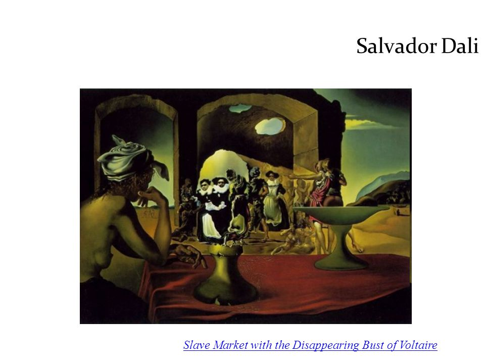 Salvador Dali Slave Market with the Disappearing Bust of Voltaire