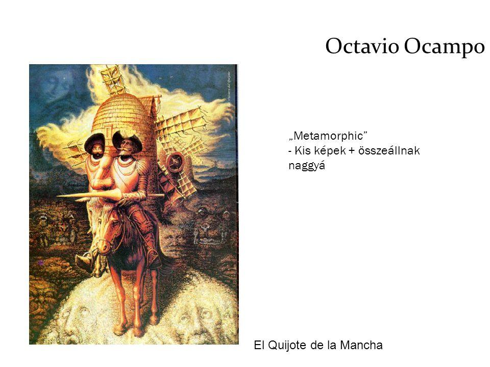 """Octavio Ocampo El Quijote de la Mancha """"Metamorphic"""" - Kis képek + összeállnak naggyá"""
