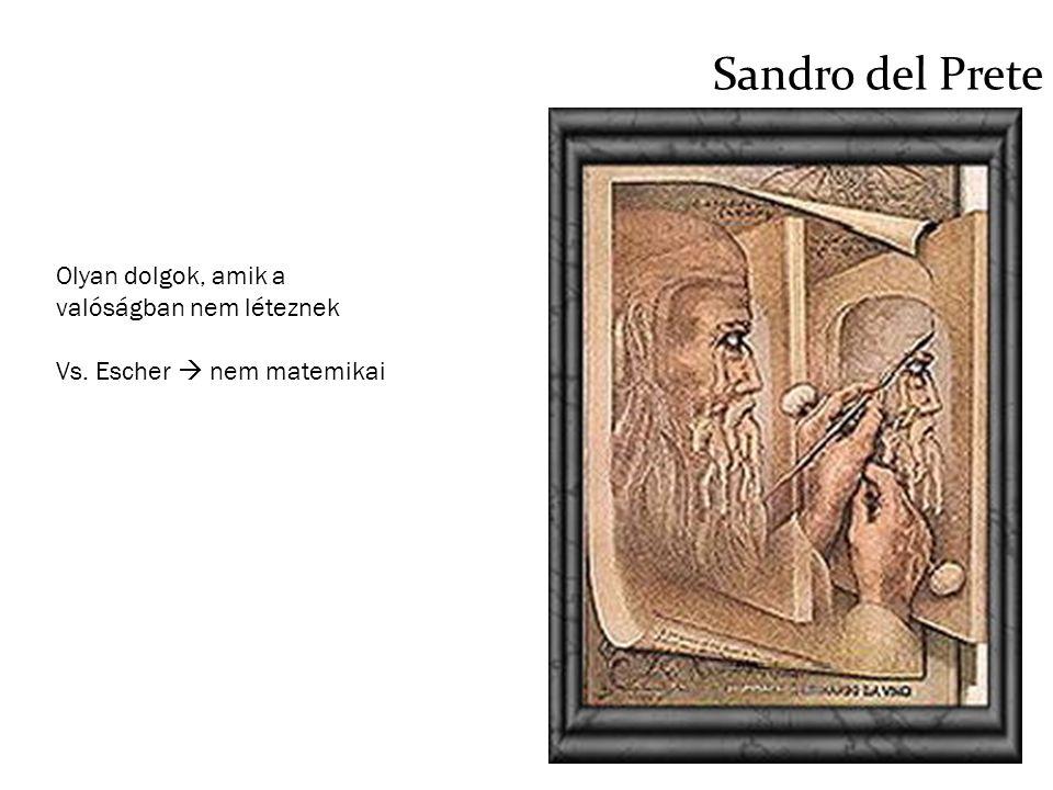 Sandro del Prete Olyan dolgok, amik a valóságban nem léteznek Vs. Escher  nem matemikai