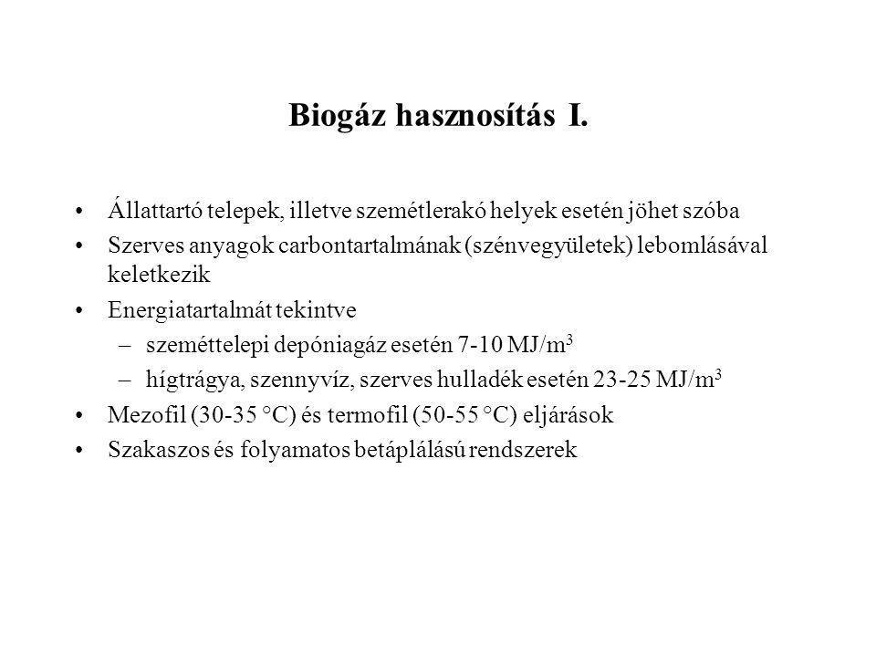 Biogáz hasznosítás I.