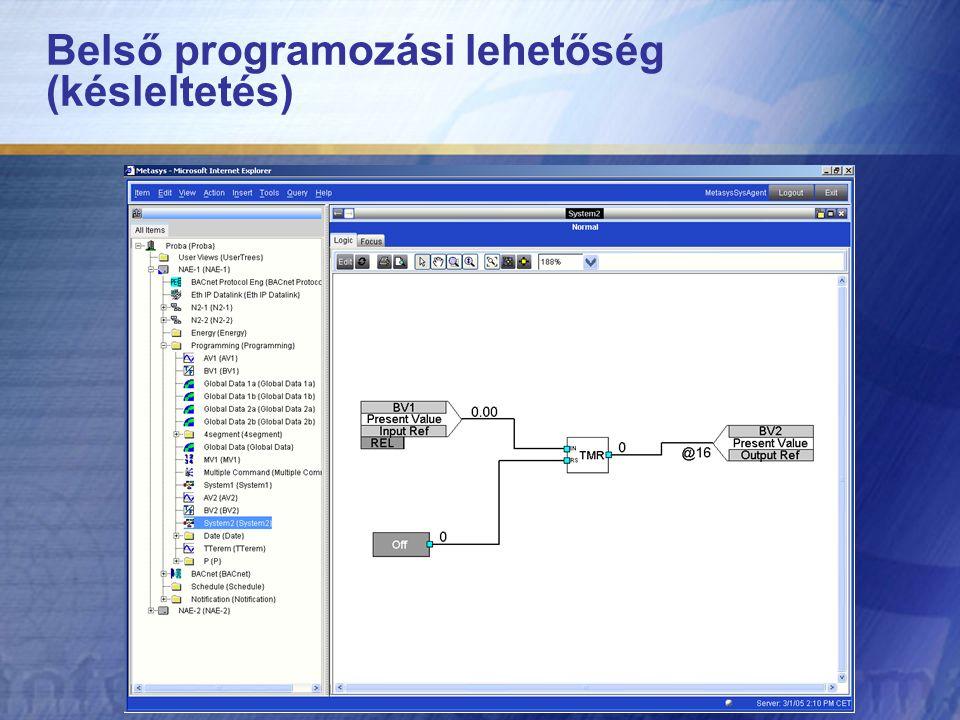 Belső programozási lehetőség (késleltetés)