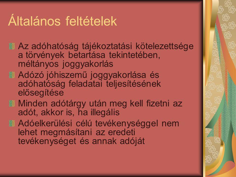 Bejelentésre vonatkozó szabályok 2012.