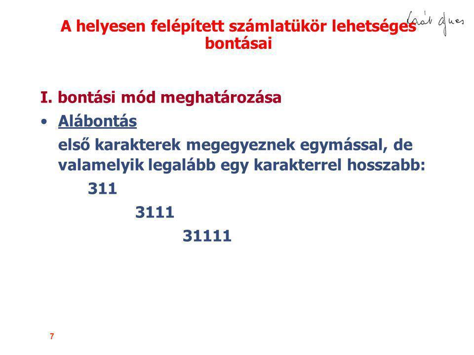 38 A beszámolórészek összefüggése MÉRLEG A) BEFEKTETETT ESZKÖZÖK I.Immateriális javak II.Tárgyi eszközök III.Befektetett pénzügyi eszközök B) FORGÓESZKÖZÖK I.Készletek II.Követelések III.Értékpapírok IV.Pénzeszközök C) AKTIV IDŐBELI ELHATÁROLÁS ESZKÖZÖK ÖSSZESEN D) SAJÁT TŐKE I.Jegyzett tőke II.Jegyzett, de be nem fizetett tőke (-) III.