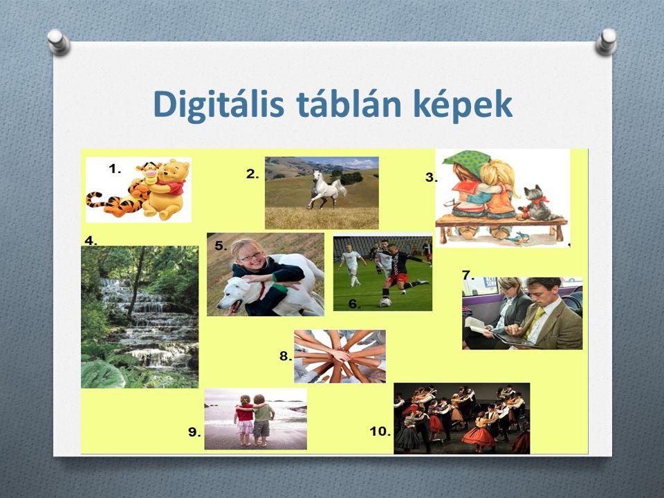 Digitális táblán képek