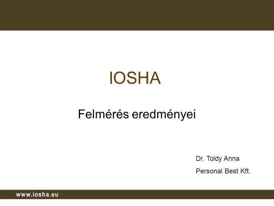 A projektről Projekt címe: IOSHA - Improving the OSH /Occupational Safety and Health/ awareness of employers and employees in CEE (A közép-kelet-európai munkaadók és munkavállalók egészségtudatos magatartásának fejlesztéséért) Projekt célja: helyzetfeltárás és tudatosság növelés, párbeszéd kialakítása a felek között Közreműködő 6 ország: Ausztria, Horvátország, Magyarország, Románia, Szlovákia, Szlovénia Közreműködő szervezetek: Nemzeti munkaadói szövetségek