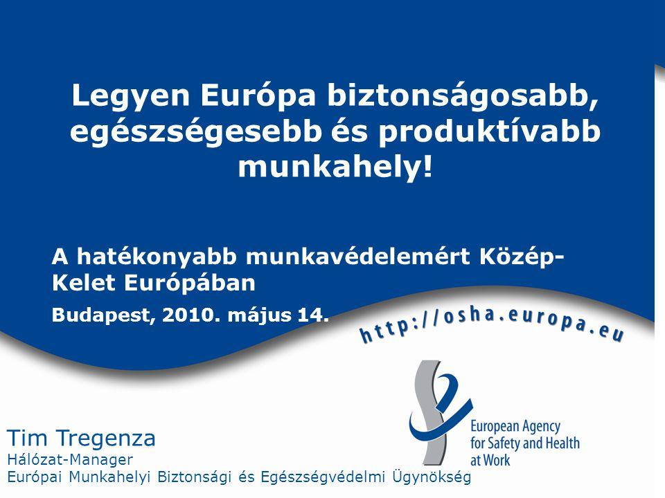 Tim Tregenza Hálózat-Manager Európai Munkahelyi Biztonsági és Egészségvédelmi Ügynökség Legyen Európa biztonságosabb, egészségesebb és produktívabb munkahely.