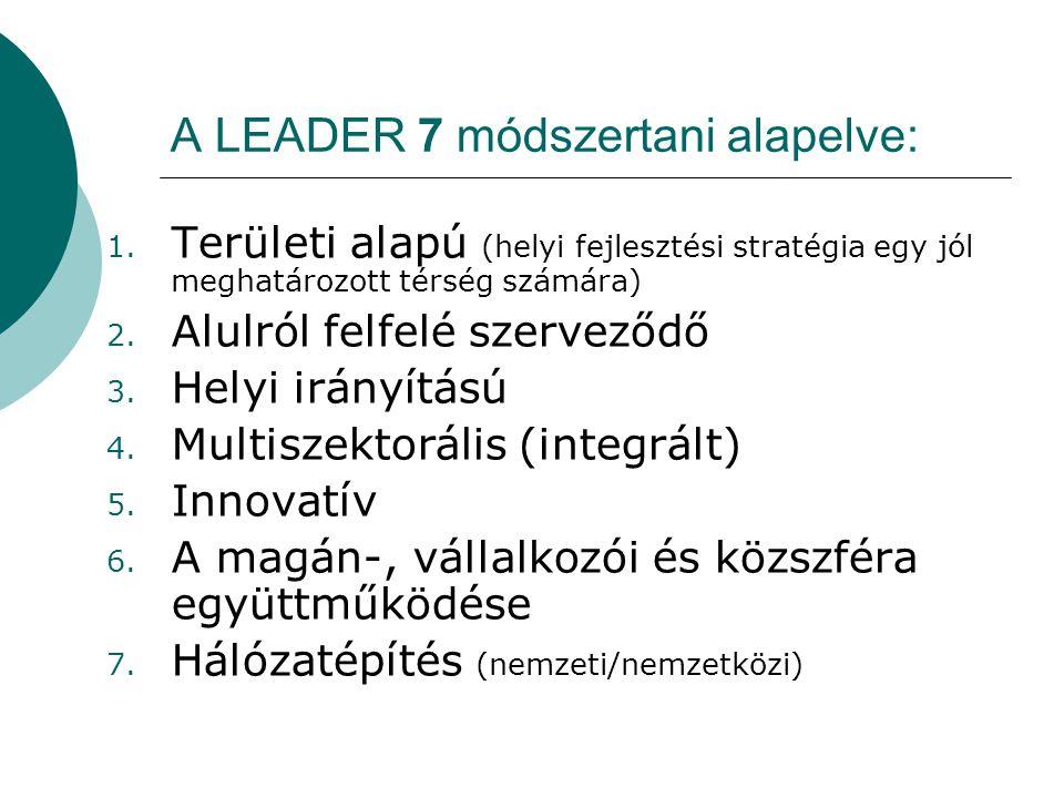 A LEADER 7 módszertani alapelve: 1.