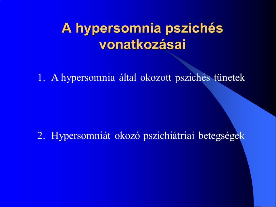 Hypersomnia egyéb alvási zavarok miatt Egyéb alvási zavar Vezető panasz a túlzott álmosság, önálló klinikai figyelmet indokolja.