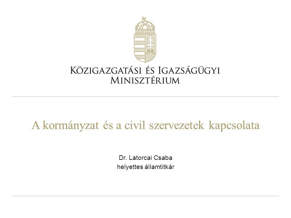 A kormányzat és a civil szervezetek kapcsolata Dr. Latorcai Csaba helyettes államtitkár