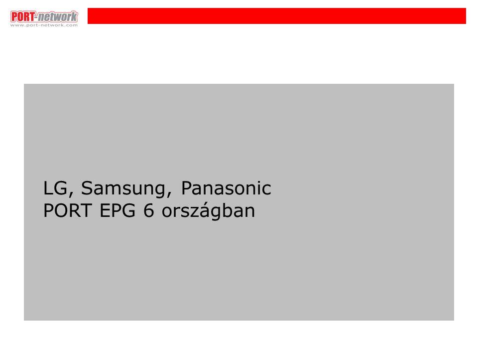 i LG, Samsung, Panasonic PORT EPG 6 országban