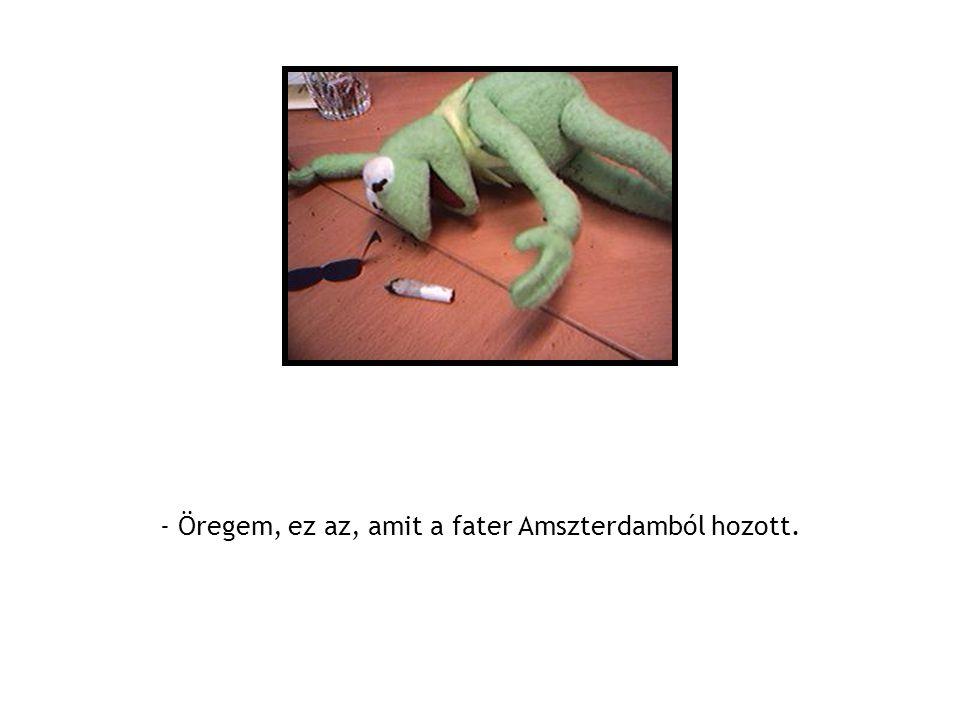 - Öregem, ez az, amit a fater Amszterdamból hozott.