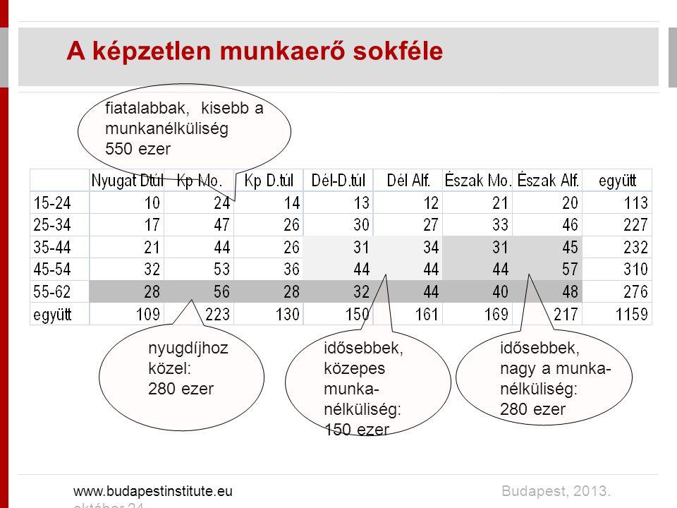 A képzetlen munkaerő sokféle www.budapestinstitute.eu Budapest, 2013.