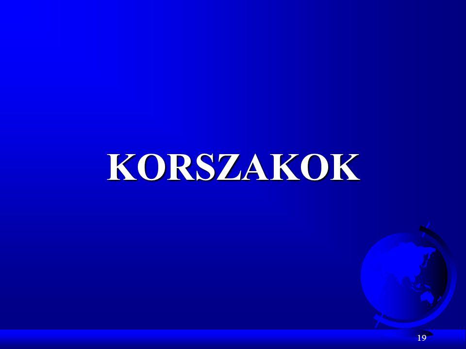 19 KORSZAKOK