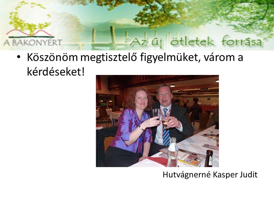 Köszönöm megtisztelő figyelmüket, várom a kérdéseket! Hutvágnerné Kasper Judit