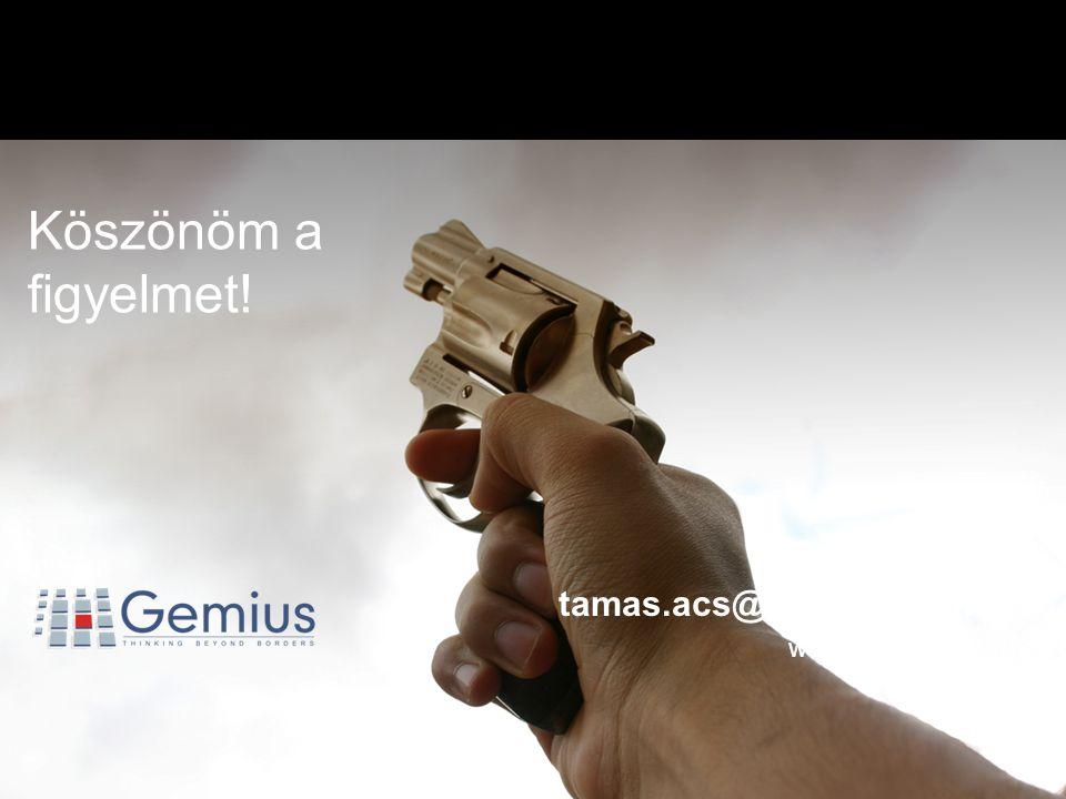 START!3…1…2… Ács Tamás tamas.acs@gemius.com www.gemius.hu Köszönöm a figyelmet!