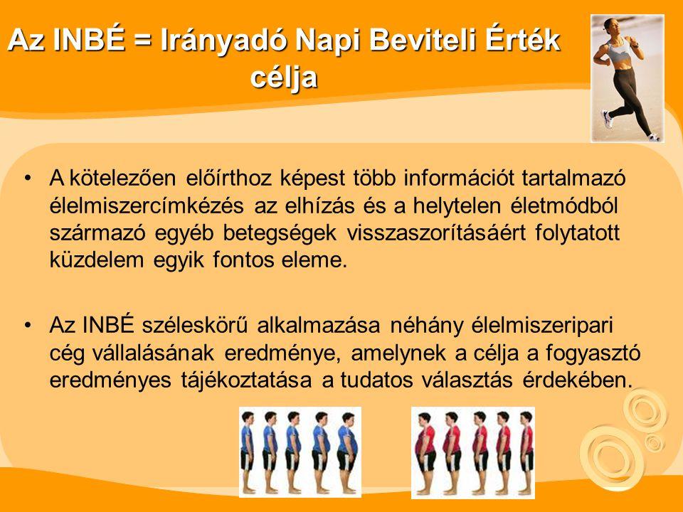 Az INBÉ = Irányadó Napi Beviteli Érték célja A kötelezően előírthoz képest több információt tartalmazó élelmiszercímkézés az elhízás és a helytelen életmódból származó egyéb betegségek visszaszorításáért folytatott küzdelem egyik fontos eleme.