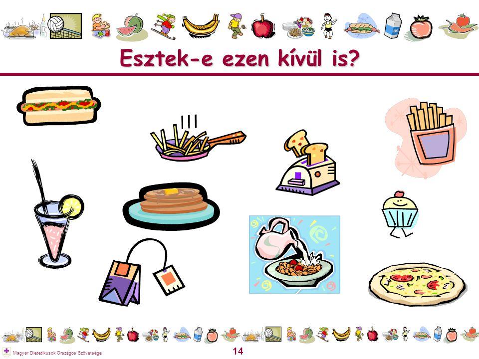 14 Magyar Dietetikusok Országos Szövetsége Esztek-e ezen kívül is?
