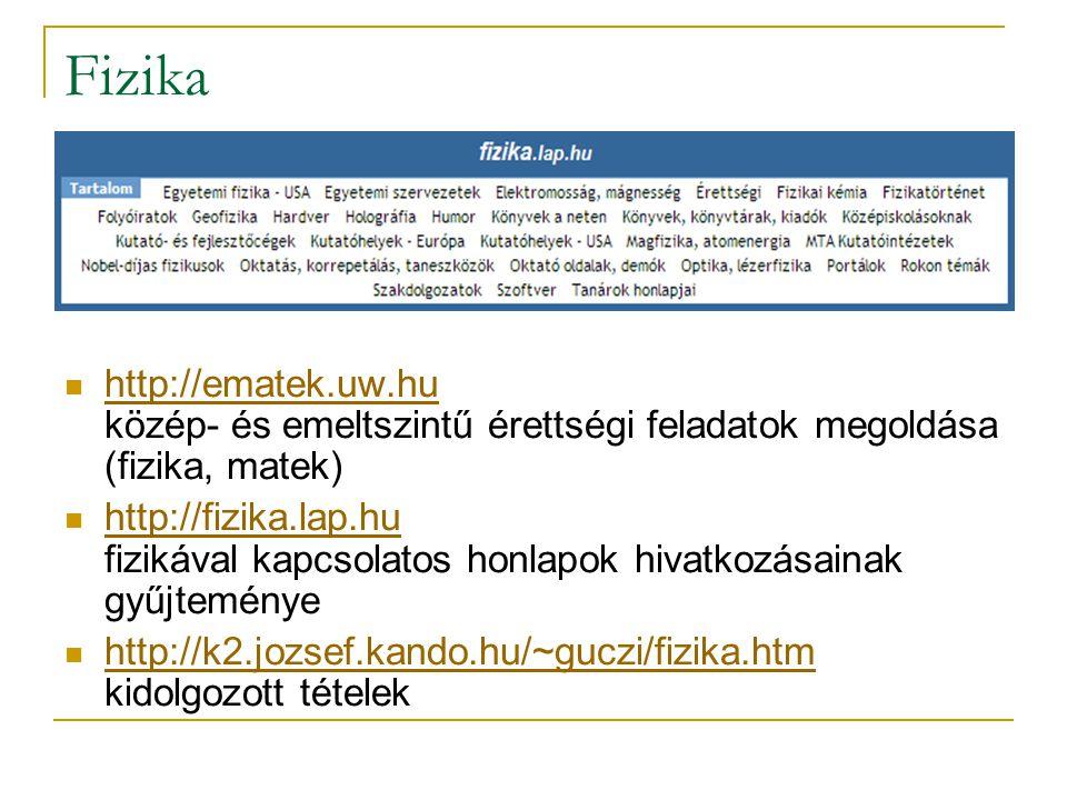 Szótárak Idegen nyelvű szótárak: http://szotar.sztaki.hu/index.hu./html magyar, angol, német, francia, olasz, holland, lengyel szókészlet http://szotar.sztaki.hu/index.hu./html http://szotar.lap.hu idegen nyelvű szótárak, fordítóprogamok, értelmező szótárak, enciklopédiák, stb.