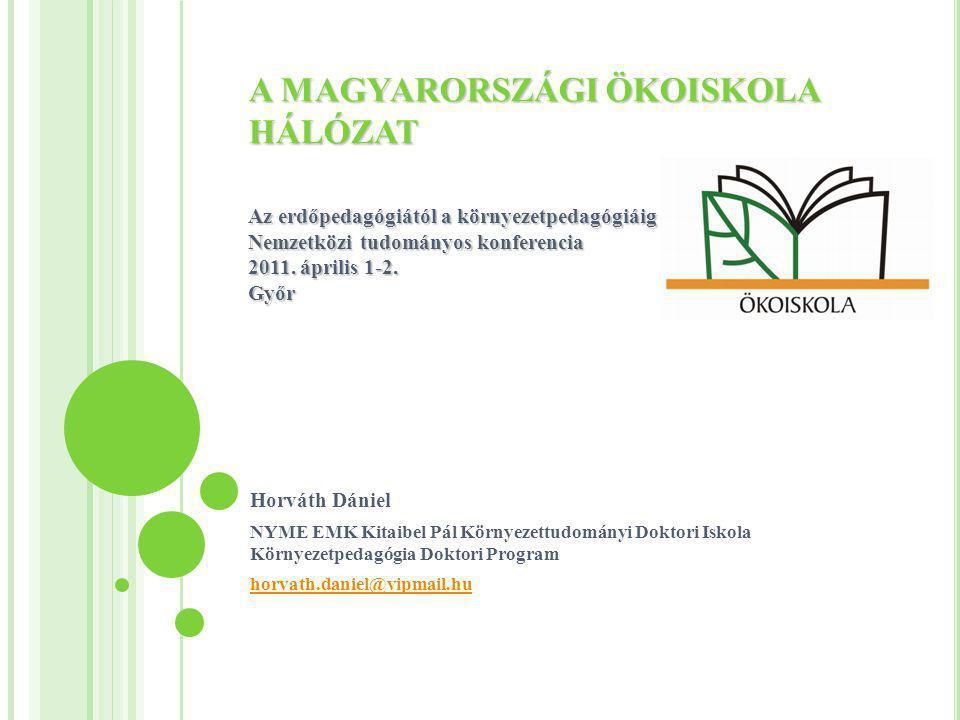 A MAGYARORSZÁGI ÖKOISKOLA HÁLÓZAT Az erdőpedagógiától a környezetpedagógiáig Nemzetközi tudományos konferencia 2011. április 1-2. Győr Horváth Dániel