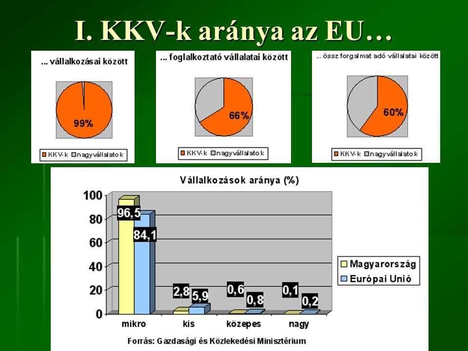 I. KKV-k aránya az Európai Unióban