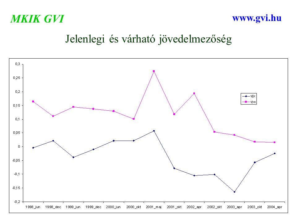 Jelenlegi és várható jövedelmezőség MKIK GVI www.gvi.hu