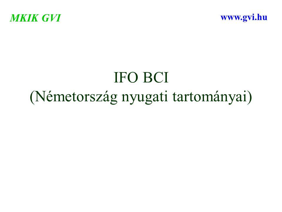 IFO BCI (Németország nyugati tartományai) MKIK GVI www.gvi.hu