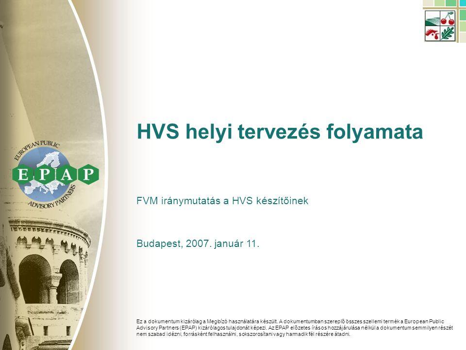 42 HVS feltöltés HVS helyi tervezési folyamat – Véglegesítés 2/4 Forrás:EPAP elemzés Egyeztetés a megoldási javaslatokhoz tartozó szabadszö- veges elemek kidolgozásá- ról Kommuni- káció Egyéb teendők A 15.