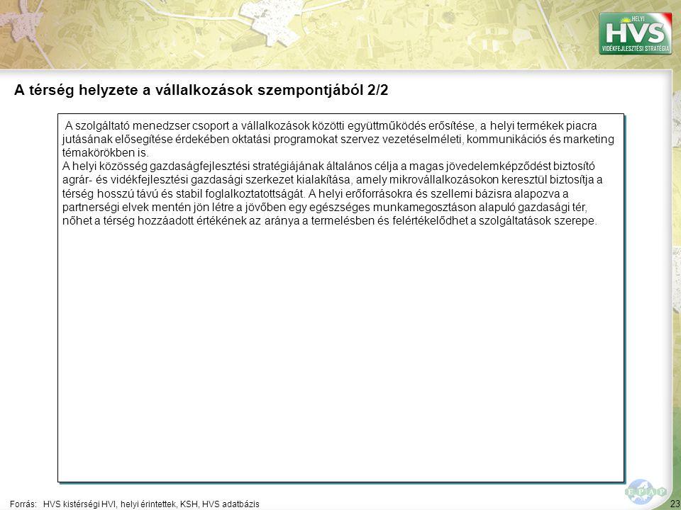 23 A szolgáltató menedzser csoport a vállalkozások közötti együttműködés erősítése, a helyi termékek piacra jutásának elősegítése érdekében oktatási p
