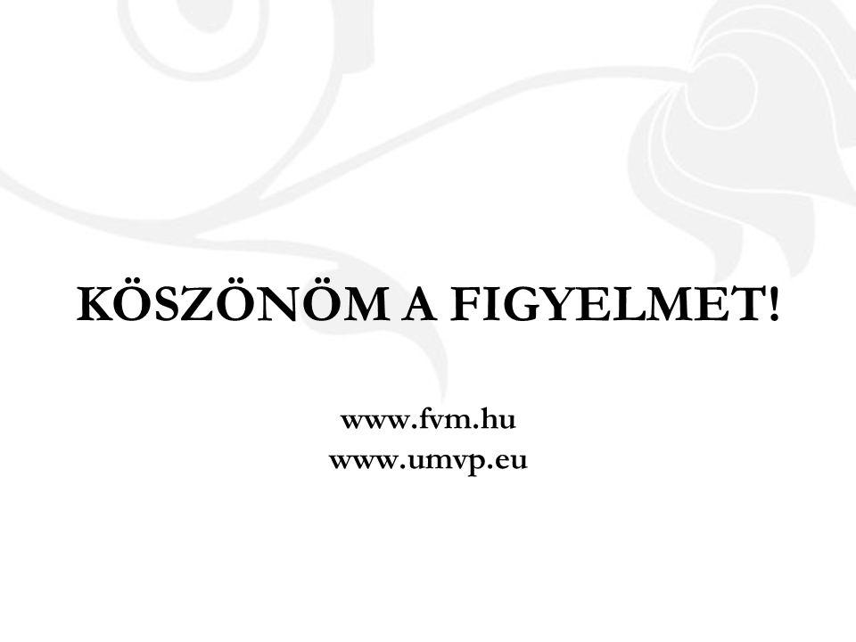 KÖSZÖNÖM A FIGYELMET! www.fvm.hu www.umvp.eu