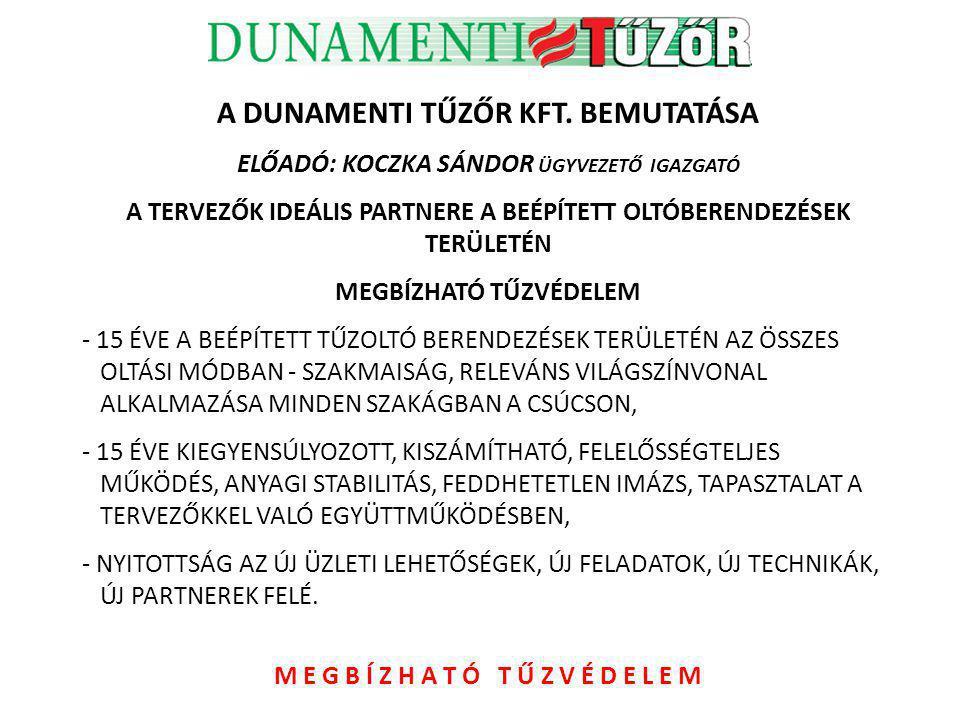 SZAKMAISÁG, RELEVÁNS VILÁGSZÍNVONAL ALKALMAZÁSA, STRATÉGIAI GONDOLKODÁS 1998-2001 évek idején az IFEX-Tűzőr Kft.