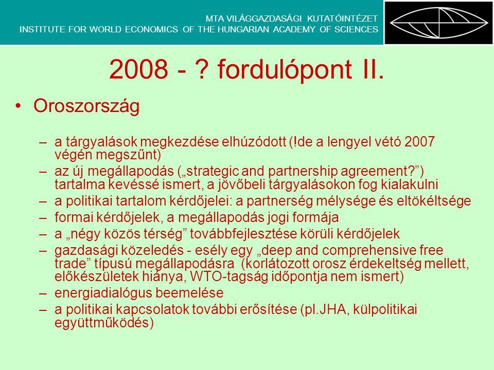 MTA VILÁGGAZDASÁGI KUTATÓINTÉZET INSTITUTE FOR WORLD ECONOMICS OF THE HUNGARIAN ACADEMY OF SCIENCES zsludvig@vki.hu www.vki.hu Köszönöm a figyelmet!