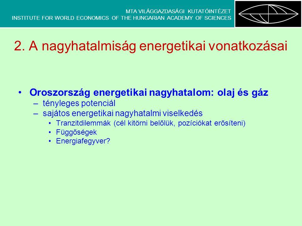 MTA VILÁGGAZDASÁGI KUTATÓINTÉZET INSTITUTE FOR WORLD ECONOMICS OF THE HUNGARIAN ACADEMY OF SCIENCES 3.