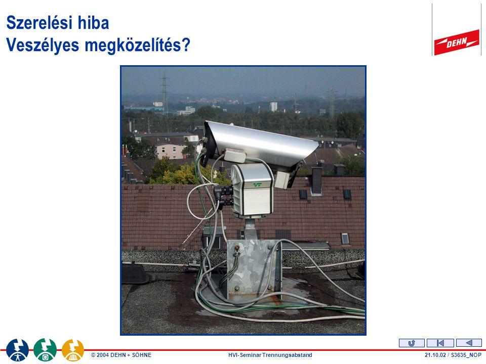© 2004 DEHN + SÖHNEHVI-Seminar Trennungsabstand Szerelési hiba Megközelítés 14.01.04 / S4014_b
