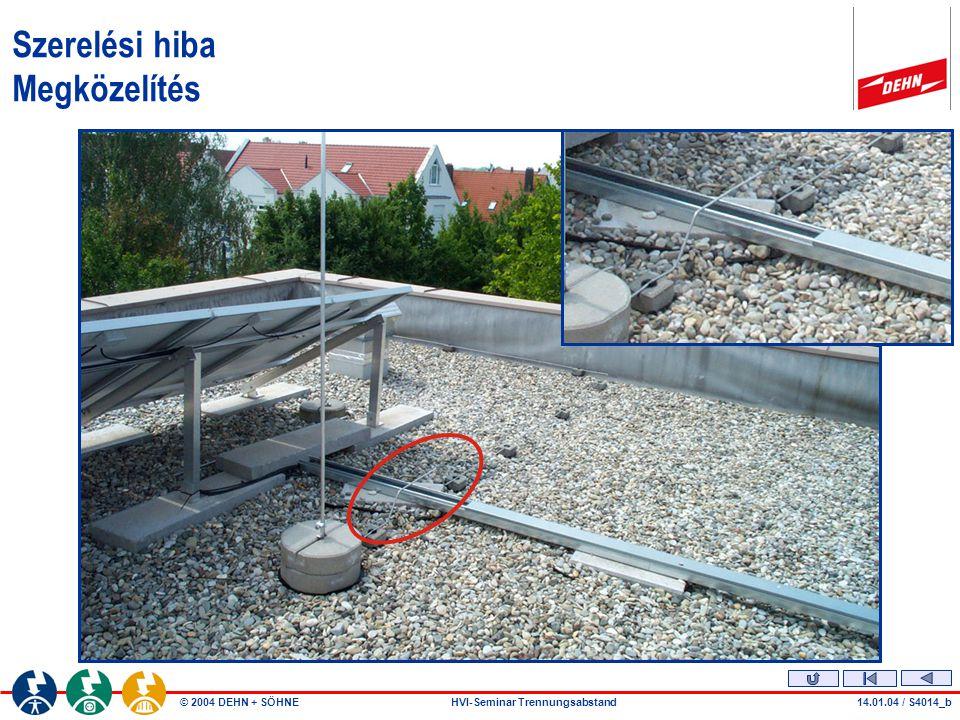 © 2004 DEHN + SÖHNEHVI-Seminar Trennungsabstand Szerelési hiba Megközelítés 14.01.04 / S4014_c
