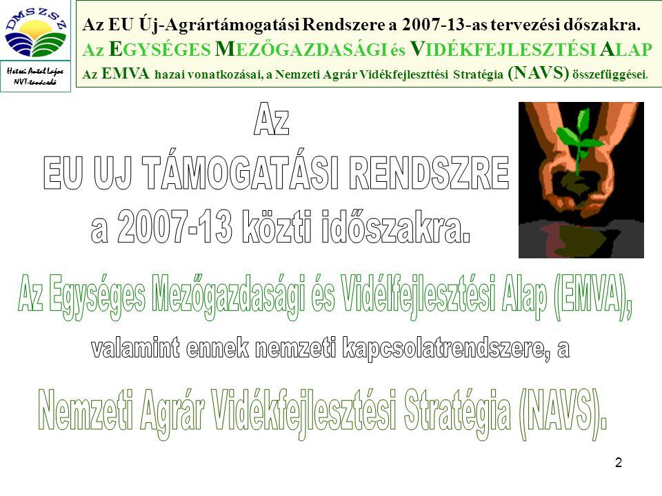 2 Az EU Új-Agrártámogatási Rendszere a 2007-13-as tervezési dőszakra.