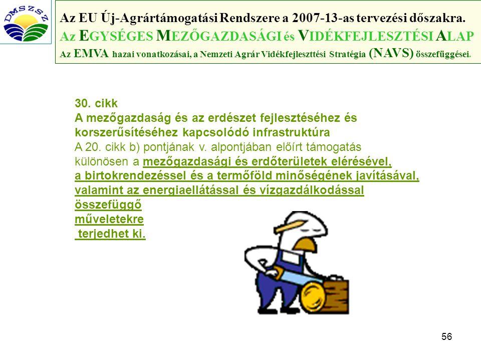 56 Az EU Új-Agrártámogatási Rendszere a 2007-13-as tervezési dőszakra.