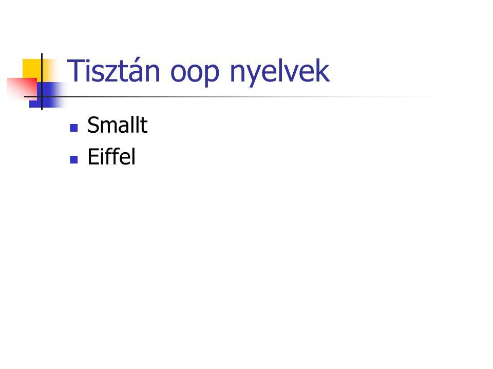 Tisztán oop nyelvek Smallt Eiffel