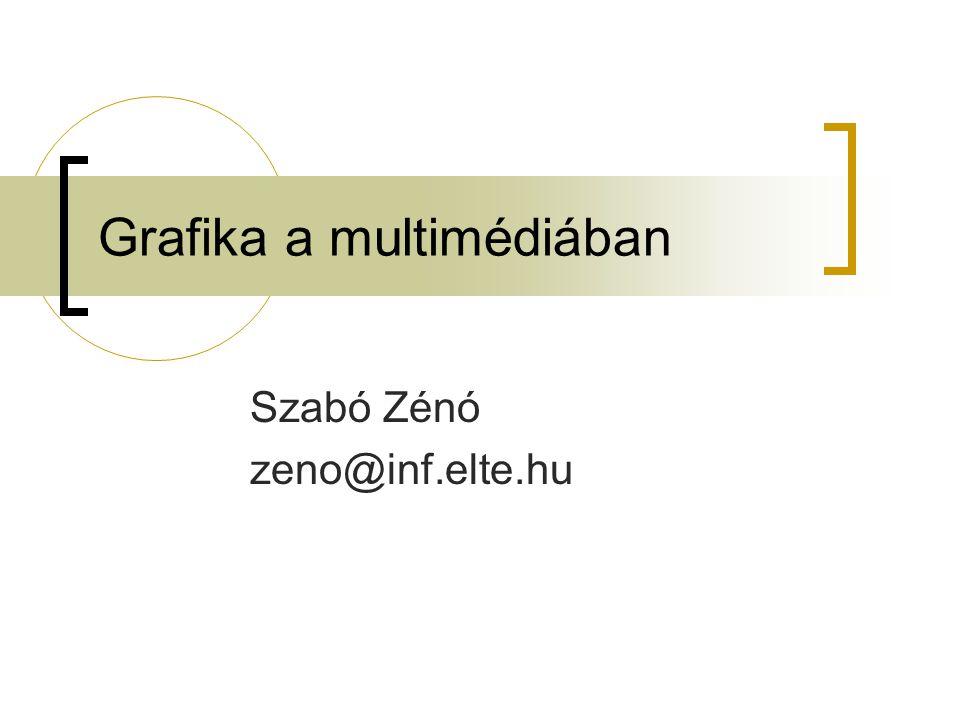 Grafika a multimédiában Szabó Zénó zeno@inf.elte.hu