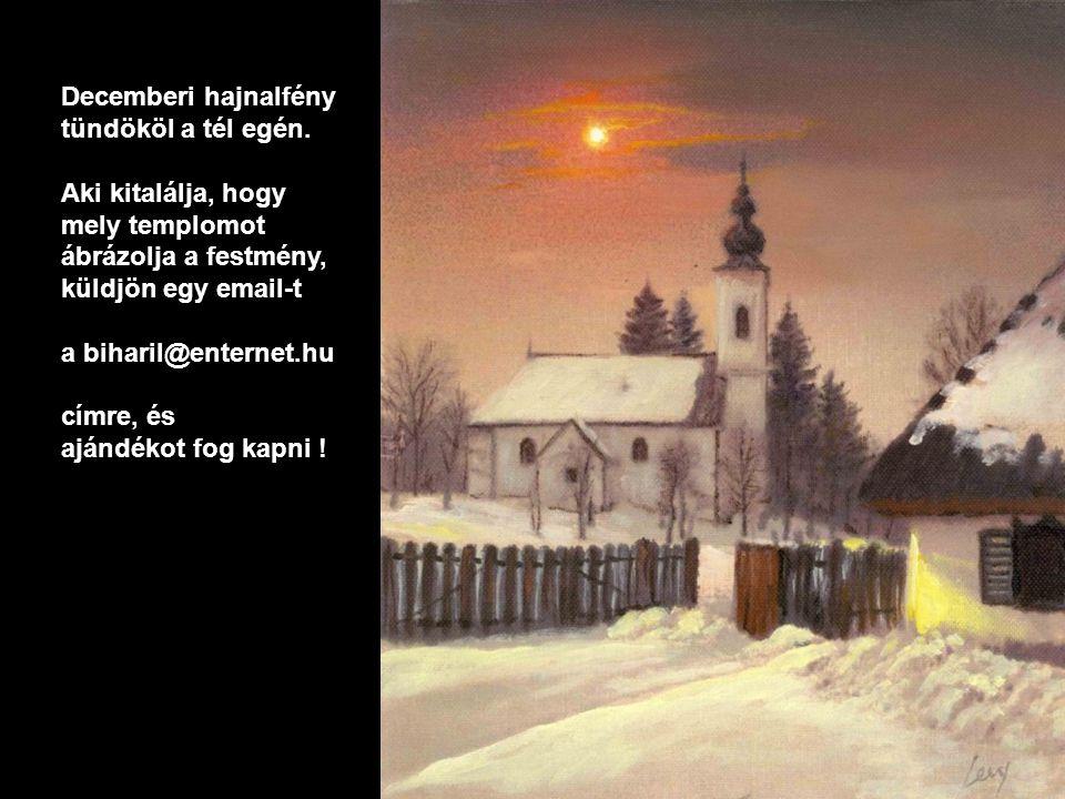 Decemberi hajnalfény tündököl a tél egén.