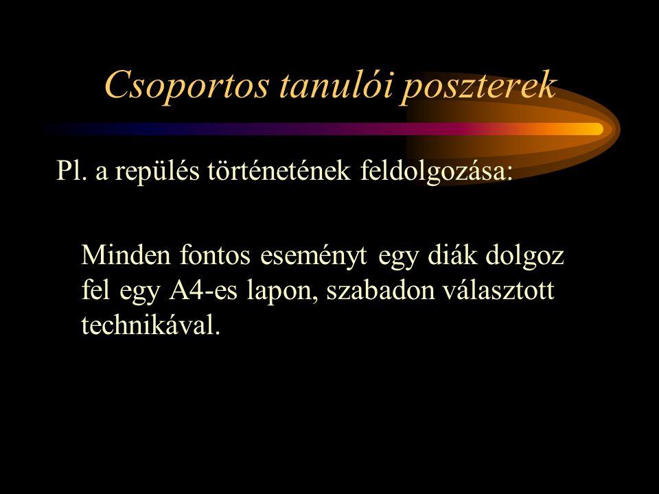 Csoportos tanulói poszterek Pl.