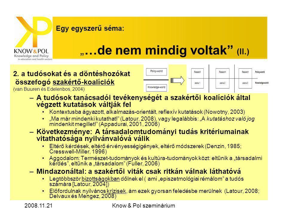 """2008.11.21Know & Pol szeminárium Egy egyszerű séma: """" …de nem mindig voltak (II.) 2."""