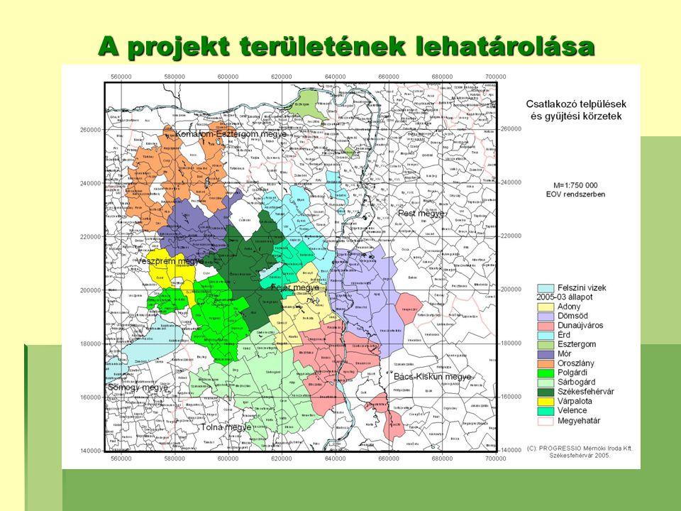A projekt területének lehatárolása