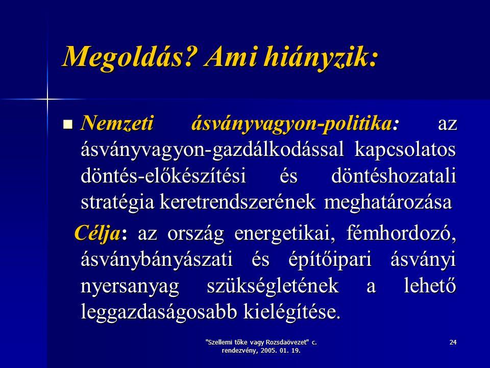 Szellemi tőke vagy Rozsdaövezet c. rendezvény, 2005.