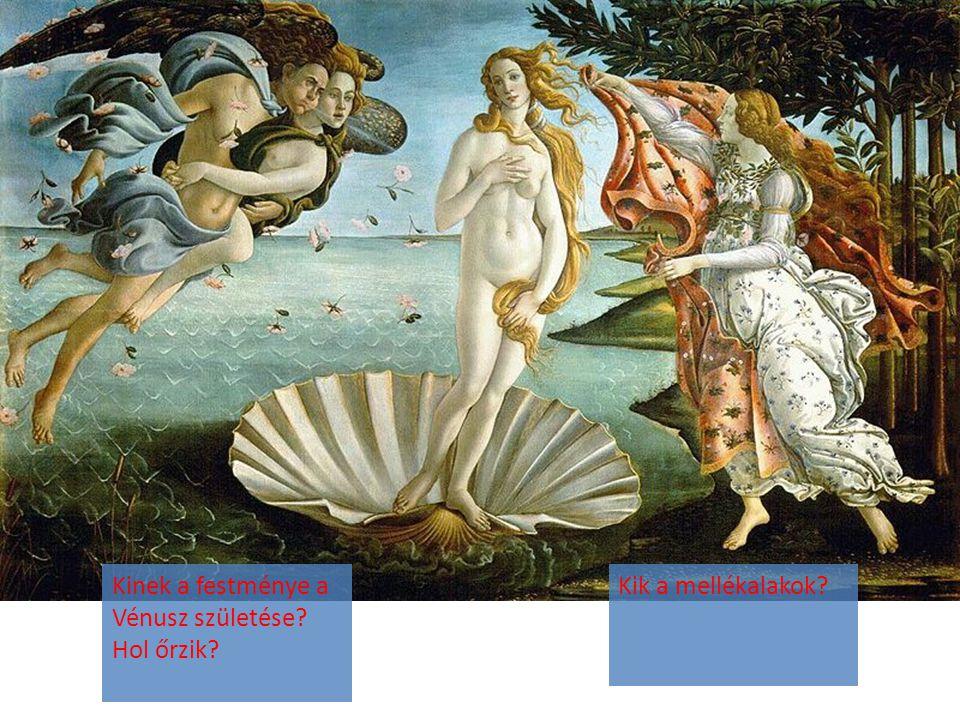 Kinek a festménye a Vénusz születése? Hol őrzik? Kik a mellékalakok?