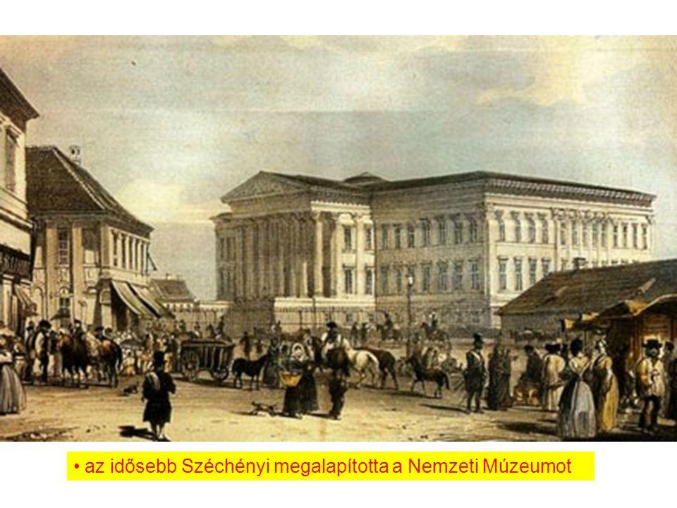 az idősebb Széchényi megalapította a Nemzeti Múzeumot