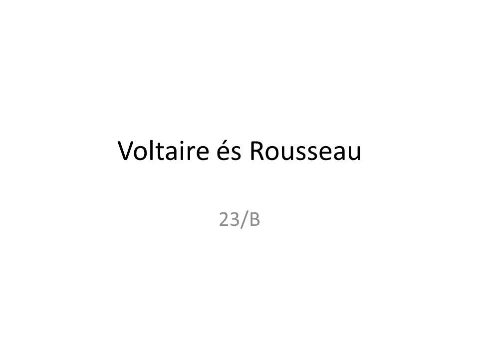 Voltaire és Rousseau 23/B