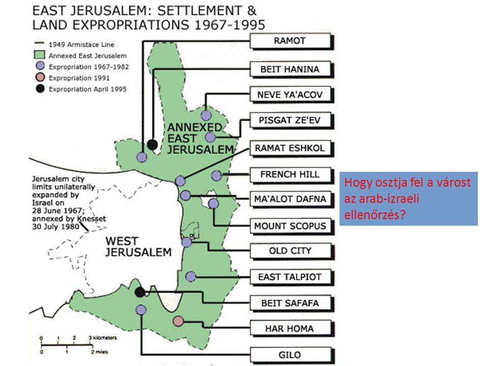Hogy osztja fel a várost az arab-izraeli ellenőrzés?