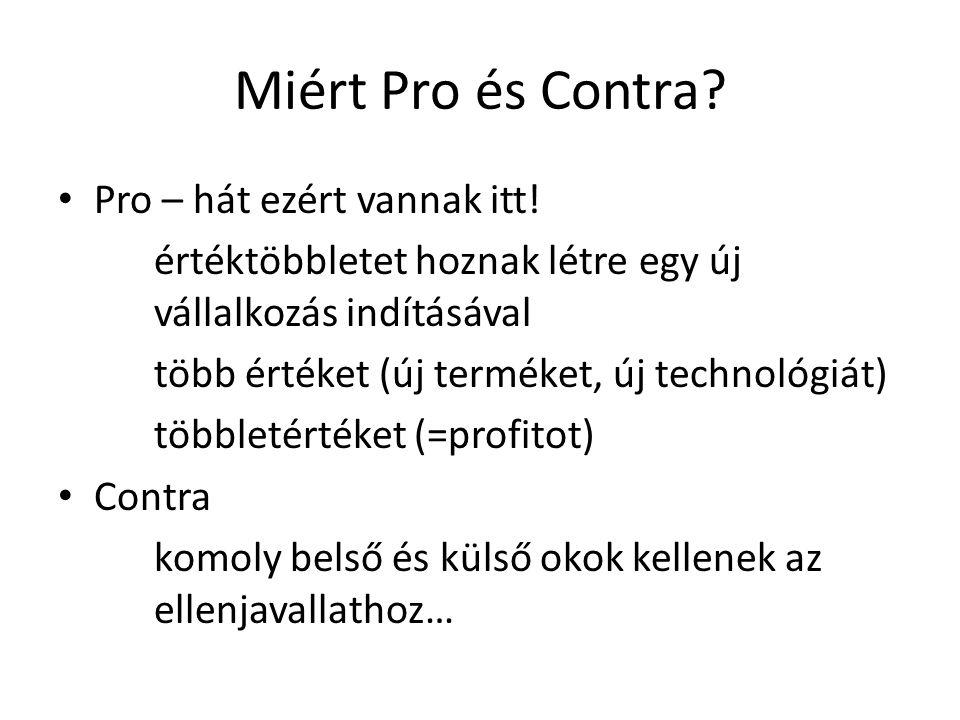 Miért Pro és Contra.Pro – hát ezért vannak itt.