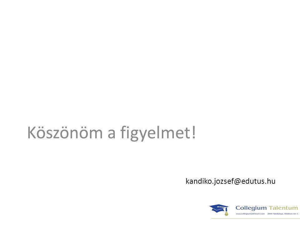 kandiko.jozsef@edutus.hu Köszönöm a figyelmet!
